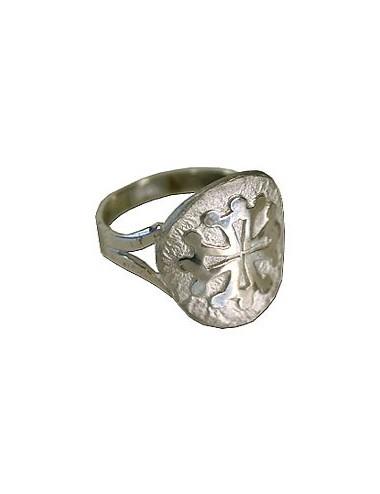 Bague Croix occitane en argent 925/1000