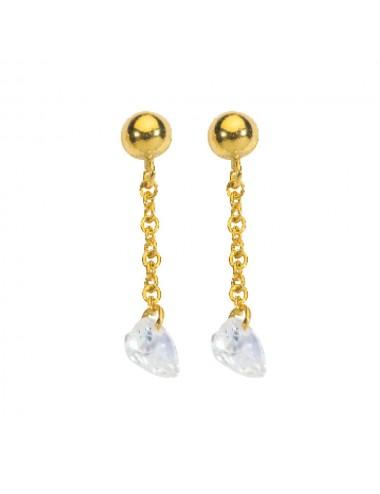 Boucles d'oreilles  en or avec Oxyde