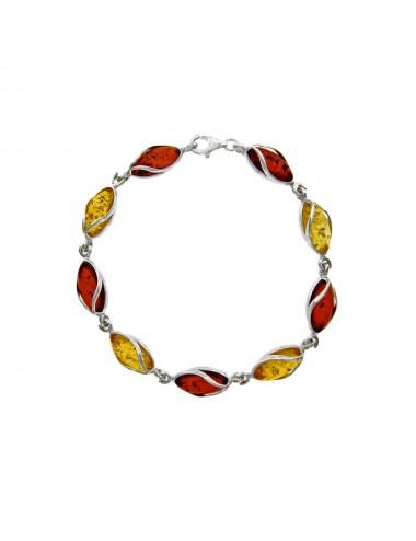 bracelet ambre argent