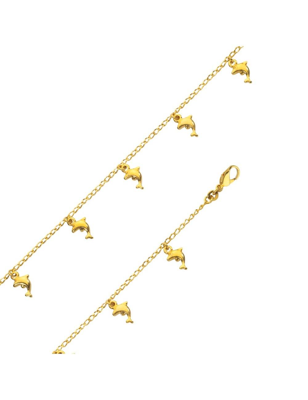 Bracelet dauphins plaqué or