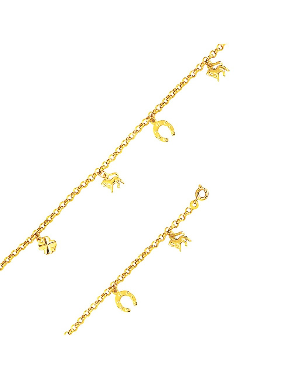 Bracelet plaqué or fer a cheval