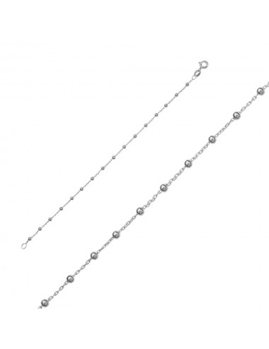 Pendentif et chaîne coeurs perle eau douce blanche en argent rhodié