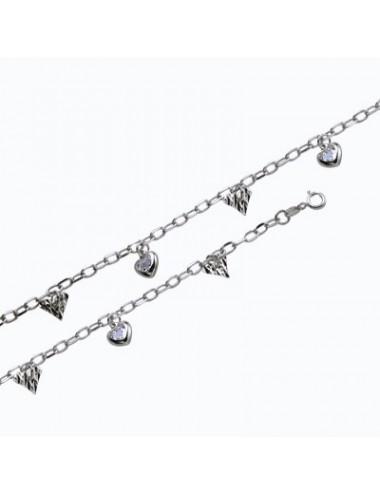 Pendentif et chaîne perle eau douce blanche en argent rhodié