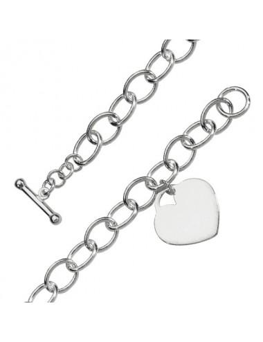 bracelet en argent avec breloques