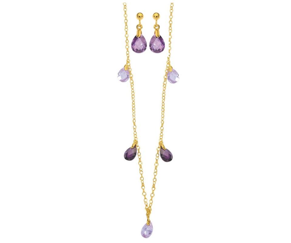 Collier et boucle d oreille en plaque or - Boite a bijoux boucle d oreille ...