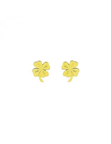 boucle d'oreille trèfle à quatre feuille