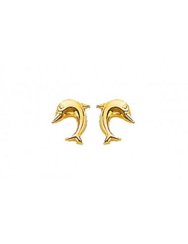 boucles d'oreilles dauphin en or