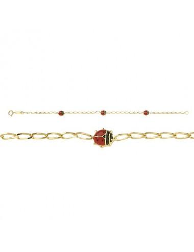 Bracelet 18cm Cuir de veau noir motif coeur Argent 925/1000 rhodié (2,40g), oxyde de zirconium