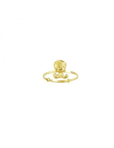 Bracelet triple tours 50cm Cuir de veau blanc, fermoir à vis aimanté Acier Perle Cathédrale Argent 925/1000