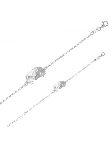 Bracelet tête de cheval en argent