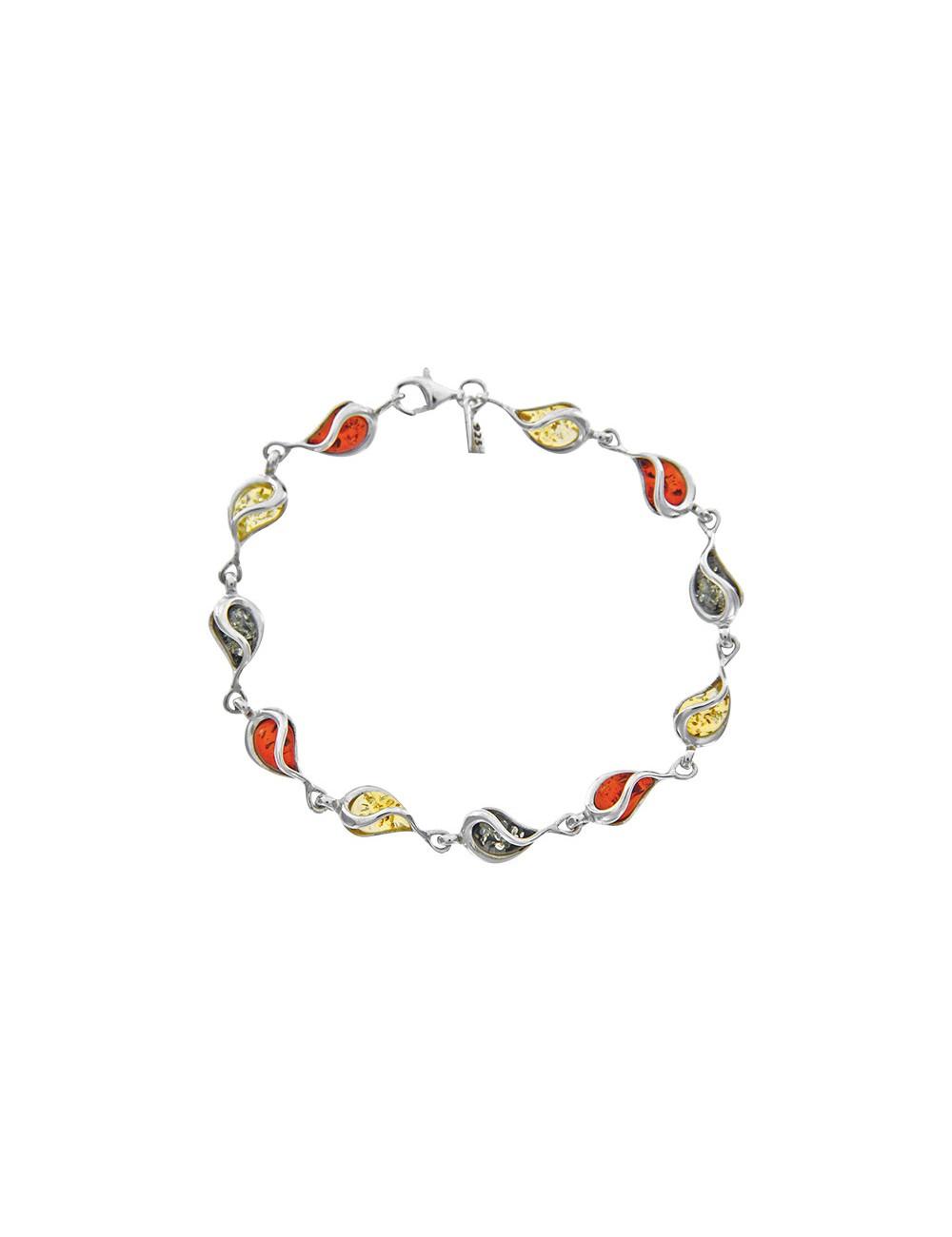 bracelet ambre avec petites pierres