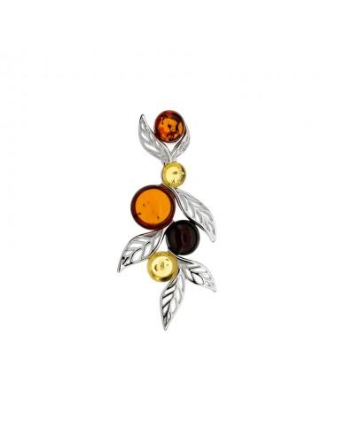 bague ambre en argent 925/1000