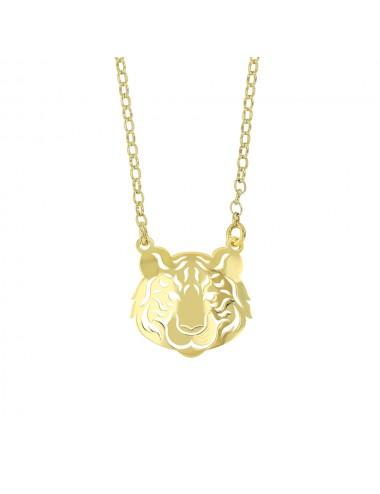 Collier tigre en argent 925/1000 doré
