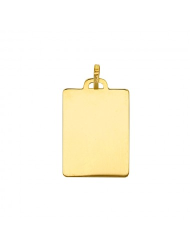 Grand modèle plaque rectangle en Or 750/1000 à graver