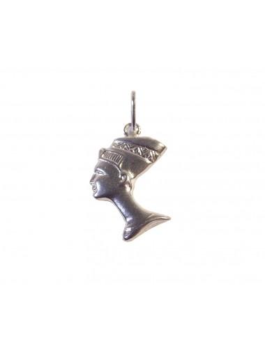 pendentif petite tête de Néfertiti en argent 925/1000