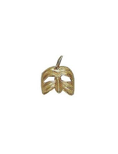 pendentif masque vénitien en or