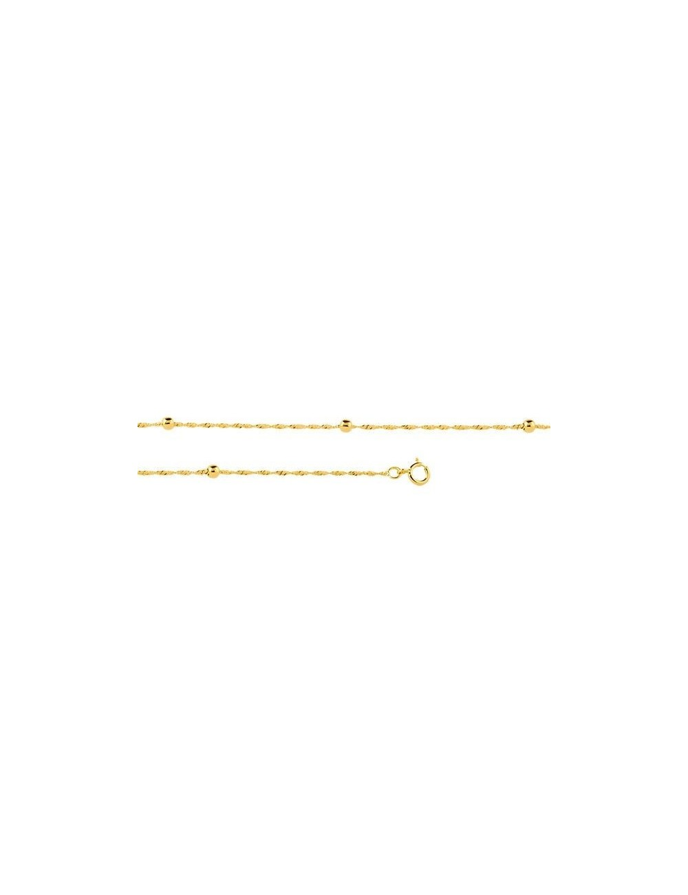 bracelet maille fantaisie en or
