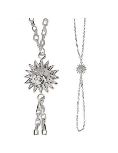 bracelet bague soleil en argent