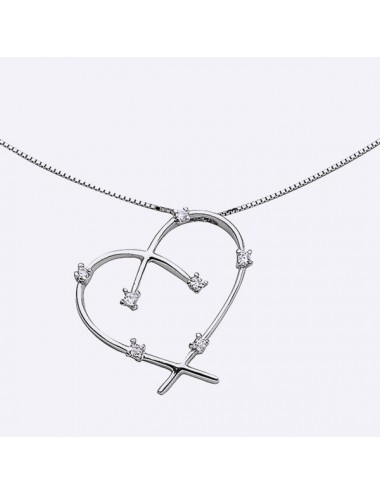 collier coeur oxyde