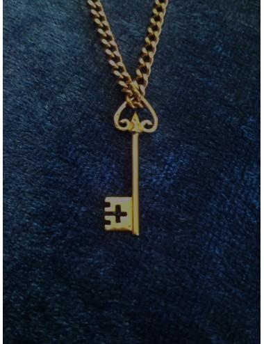 pendentif clef en or