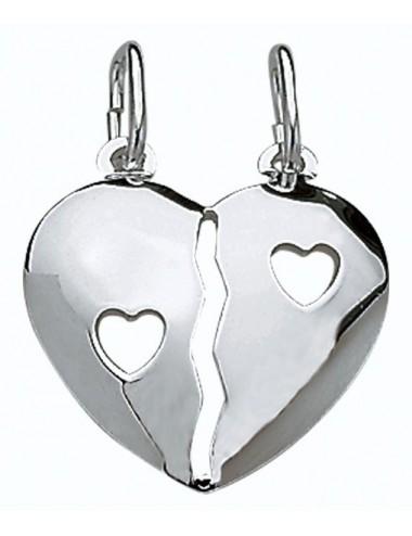pendentif coeur secable bombée