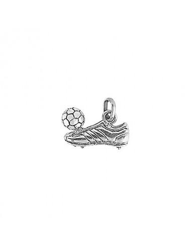 pendentif chaussure de foot avec ballon