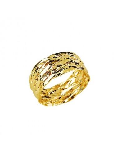Bague Tressée Plaqué or