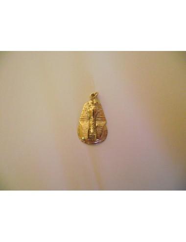 Pendentif tête de Toutankhamon en or 750 / 1000