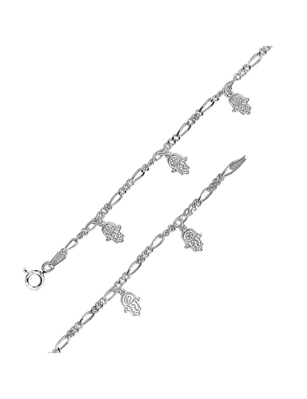 bracelet avec breloques main de fatma