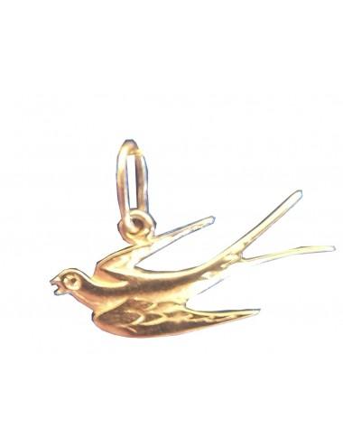 Pendentif hirondelle or de bijou artisanal