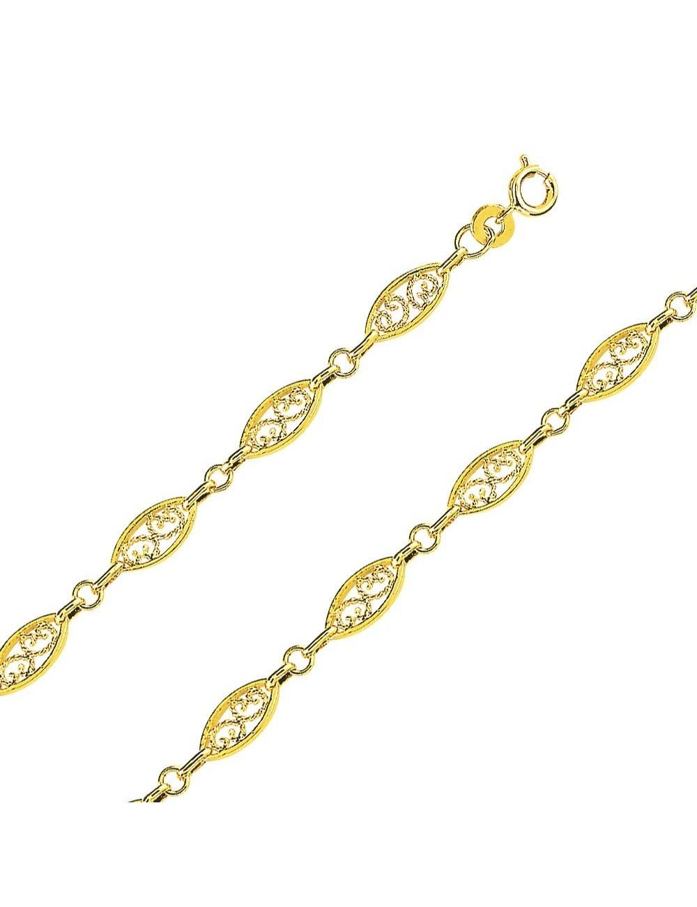 Bracelet filigrane plaqué or