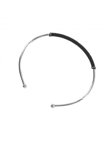 bracelet jonc avec cordon noir