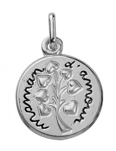 Médaille Maman d'Amour en Argent