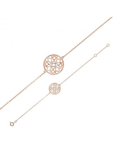Bracelet Argent rhodié et doré rose